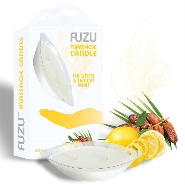 4oz/113gr - Candle Fiji Dates & Lemon Peel - White