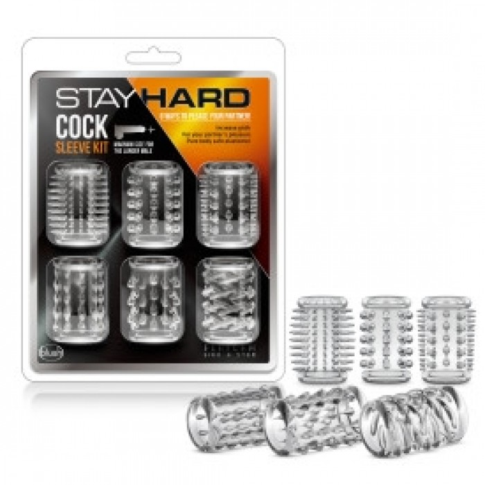Blush - Stay Hard - Cock Sleeve Kit - Clear