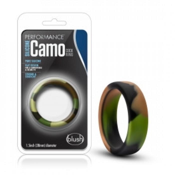 Blush - Performance - Silicone Camo Cock Ring - Green Camoflauge