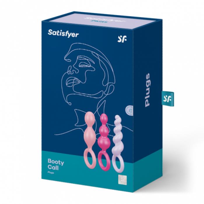 Satisfyer Plugs colored (set of 3)