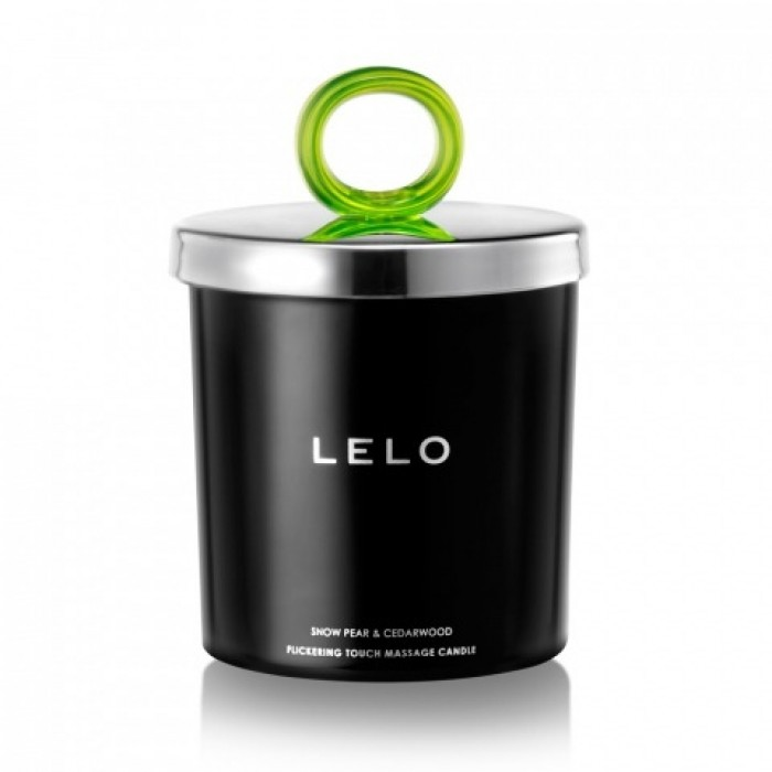 Lelo - Flickering Touch Massage Candle 5.3oz. Snow Pear & Cedarwood