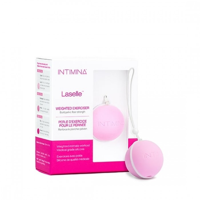 Intimina - Laselle Exerciser 28g Small Weighted Ball for Beginners Pink
