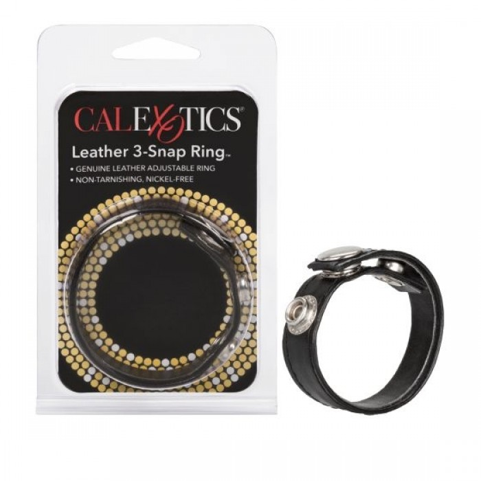 CalExotics - Leather 3 Snap Ring
