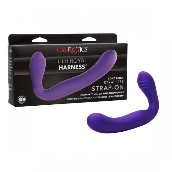 CalExotics - Her Royal Harness Love Rider Rechargeable Strapless Strap-On