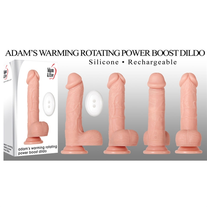 ADAM'S WARMING ROTATING POWER BOOST DILDO 7.5