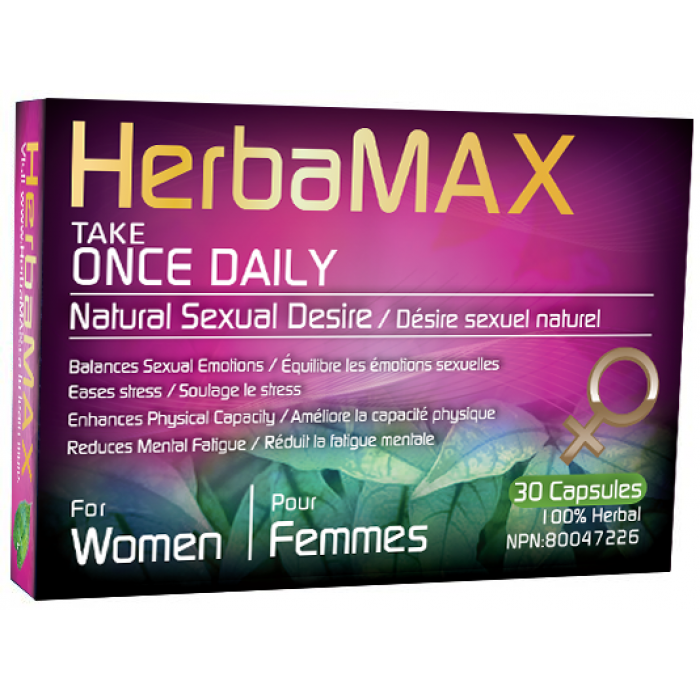HerbaMAX Femme Désir Sexuel 30 Capsules