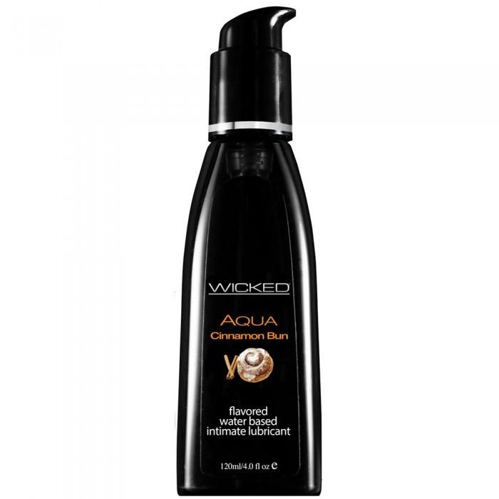 Aqua Flavored Lube 4oz/120ml in Cinnamon Bun